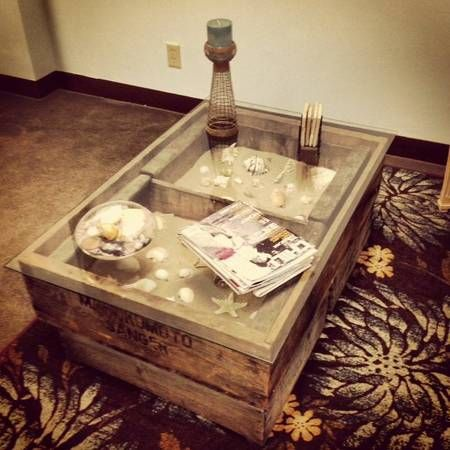 Vintage Crate Coffee Table Home Pinterest Vintage Crate Coffee Tables And Crates