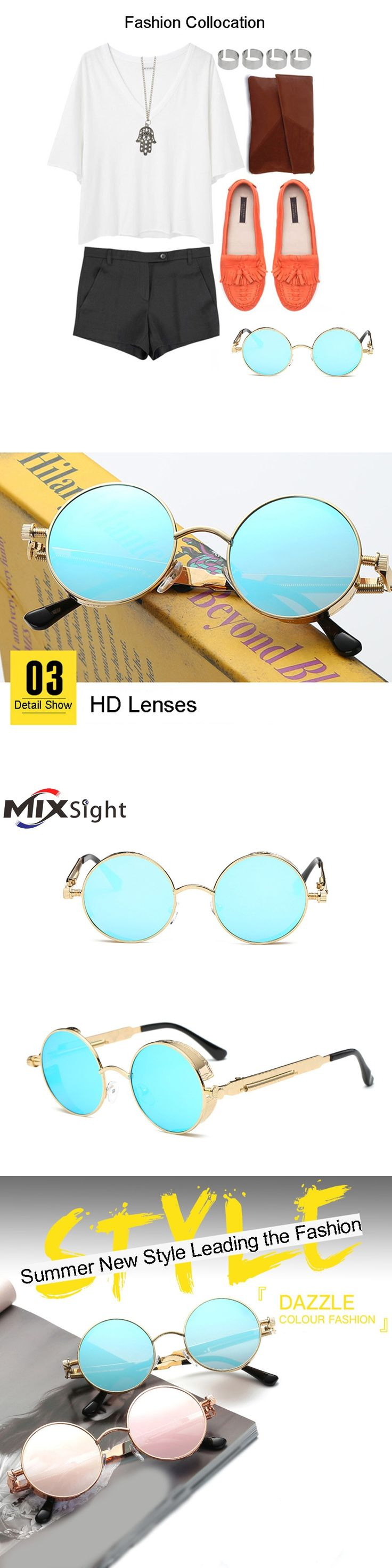 Round Metal Cycling Eyewear Protective Antifog Glasses For Work Men Safety Welding Glasses Brand Designer Retro Vintage UV400