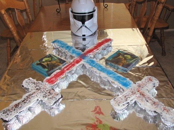 Star Wars Light Saber Cupcake Cake Idea Awesome May