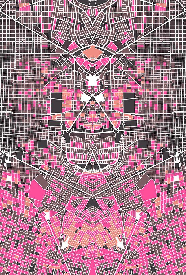 Pau Map%0A Urban DemoGraphics on Behance