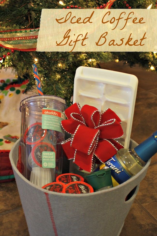 Iced Coffee Gift Basket Ideas Coffee gift baskets