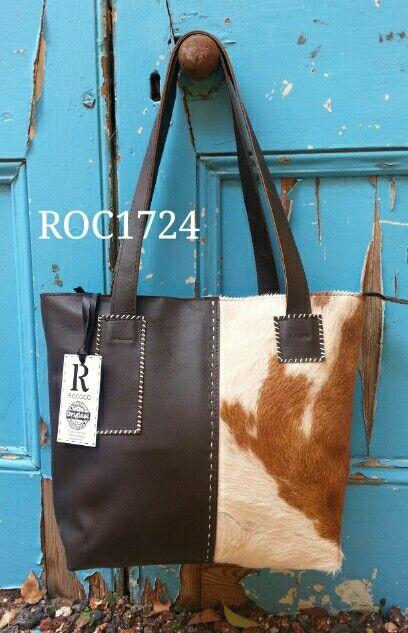 Leather & Nguni handbag ROCOCO