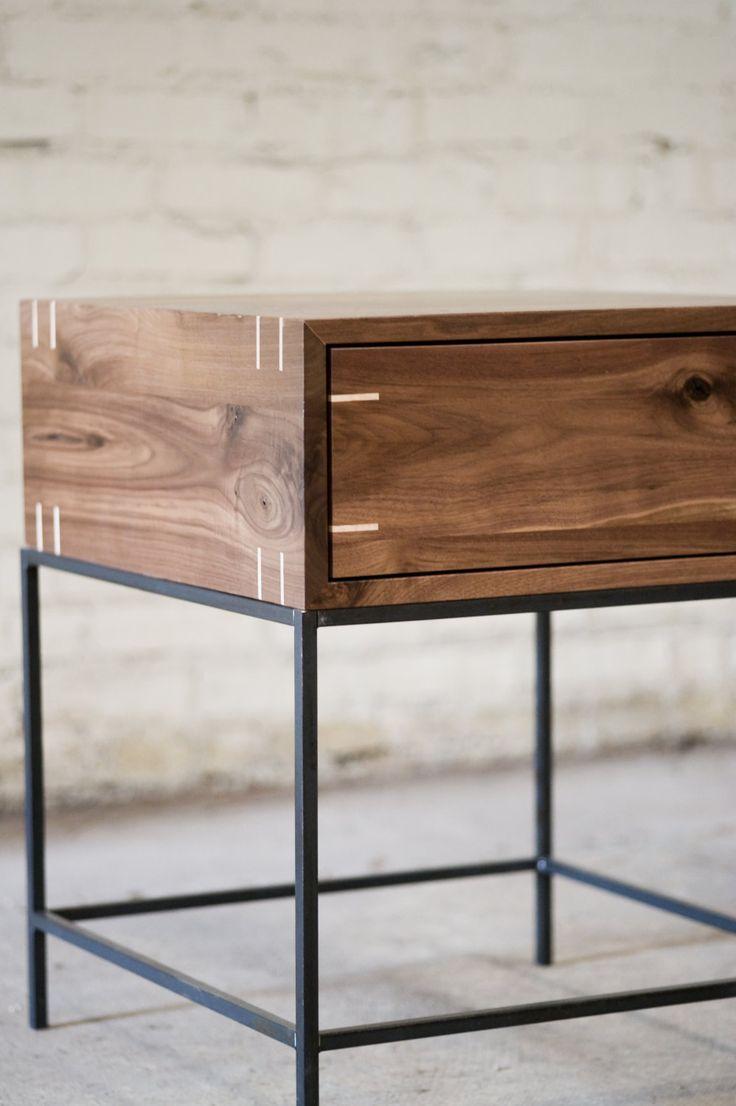 Table dextrémité Myers noyer noir et acier