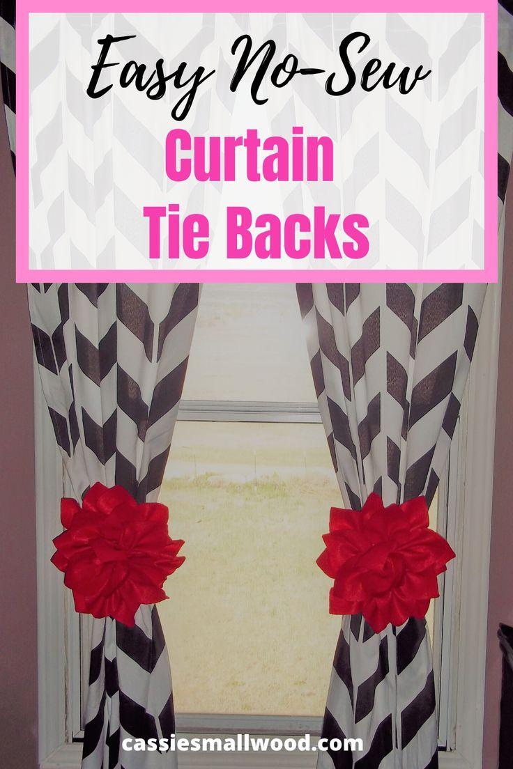 Easy Diy Curtain Tie Backs Curtain Tie Backs Flower Curtain
