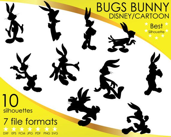 Hey, I found this really awesome Etsy listing at https://www.etsy.com/listing/501480888/10-silhouettes-bugs-bunny-looney-tunes