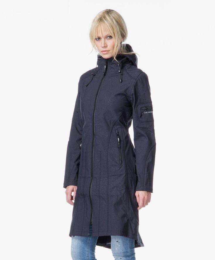 Ilse Jacobsen Softshell Raincoat - Indigo