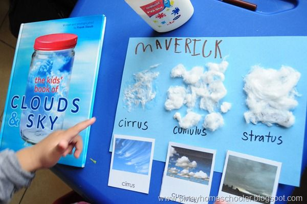 Learning about clouds, Montessori-style