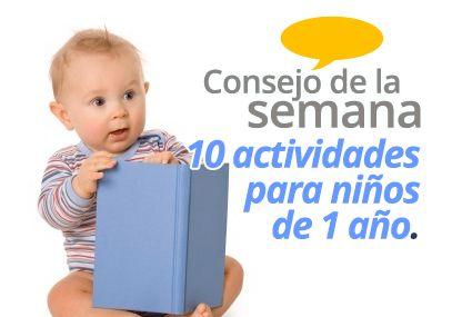 10 actividades para niños de 1 año - Parents' Place