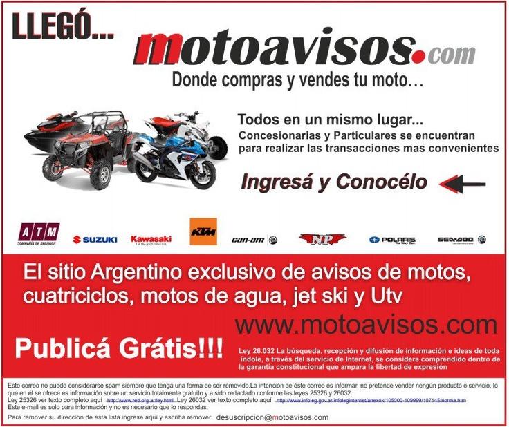 PUBLICAR MOTOS GRATIS AQUI! MOTOS, CUATRICICLOS, MOTOS DE AGUA, CLASIFICADOS GRATIS DE MOTOS en moto avisos