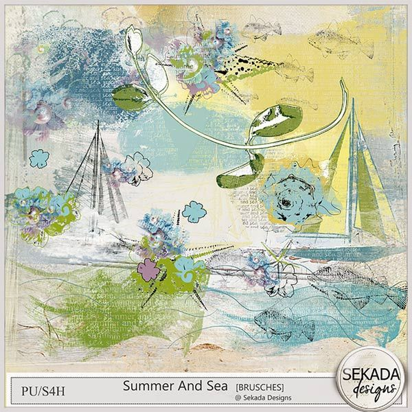 Personal Use :: Element Packs :: Summer And Sea - Brushes