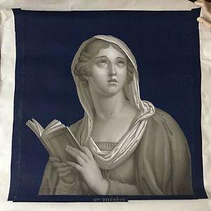 Papier Peint Ancien Ste Thérèse Début XIXè Georgian Wallpaper Early 19thC | eBay