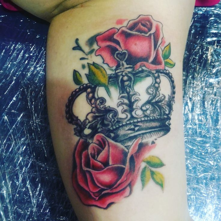Rose with crown