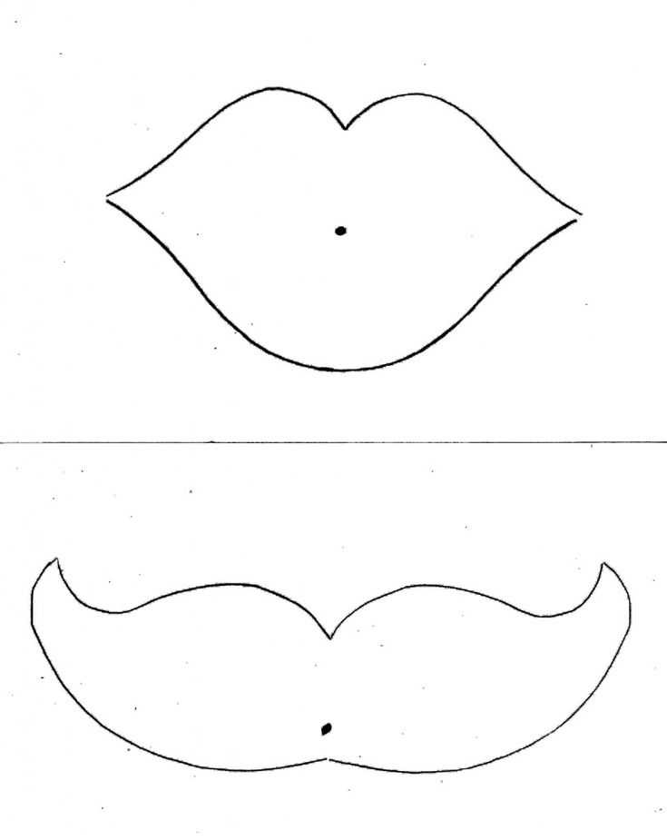 lip+and+mustache+templates | ... ! | Le Valentines DIY: Lip and Mustache Lollipop Valentines