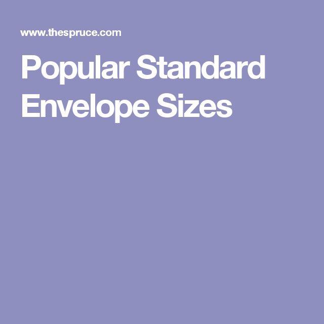 Popular Standard Envelope Sizes