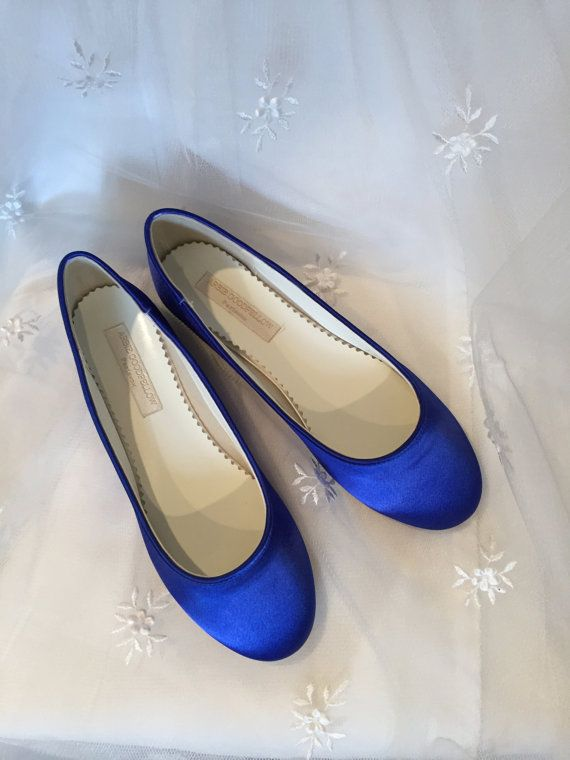 Simple Wedding Flats *Dyeable Satin *Comfortable shoes *Choose from over 150 colors (Shown in Sapphire) https://www.etsy.com/shop/Parisxox?section_id=7067574&ref=shopsection_leftnav_10 Shoes by Arbie Goodfellow SIZING & WHITE SHOE SERVICE Although we feel the shoes fit True To Size... We recommend that you also purchase our White Shoe Service. https://www.etsy.com/listing/210060698/try-on-service-wedding-shoes-from?ref=shop...