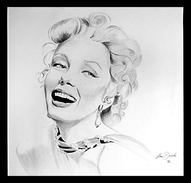 Marilyn Monroe - pencil on paper
