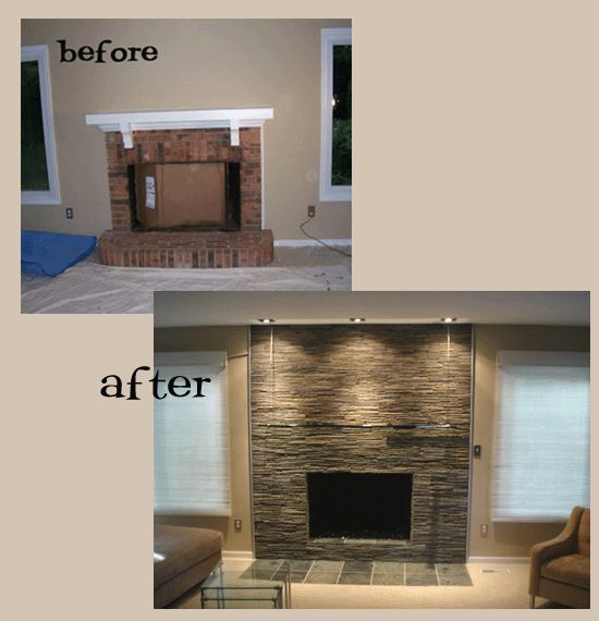 98 best Fireplace makeover images on Pinterest Fireplace ideas