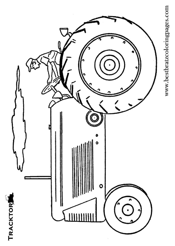 Best 25 Tractor coloring pages