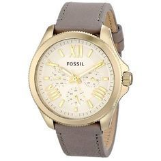 nice Montre pour femme : Fossil Women's AM4529 'Cecile' Grey Leather Watch | Overstock.com Shopping - The Best Deals on Fossil Women's Watches