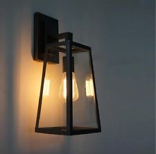 Vintage Industrial Glass Cage Wall Lamp Shade Outdoor Retro Lighting Sconce