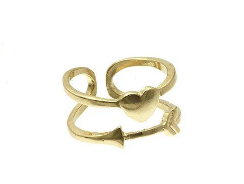 Bague Arrow Love, 8$  Vendue dès le 26 mai 2014 sur http://www.shop-vlb.com/collections/cynthia-du/products/arrow-love-bague !  #gold #ring #heart #VLBcollection #cynthiadulude #PlusDeCynthia