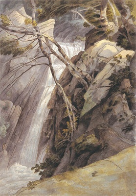 Waterfall near Ambleside, 1786 by Francis Towne