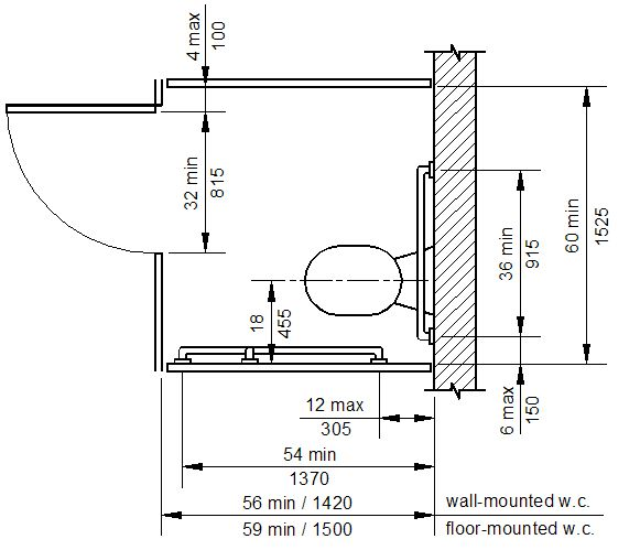 handicap accessible shower dimensions wheelchair stall ada cad details compliant revit