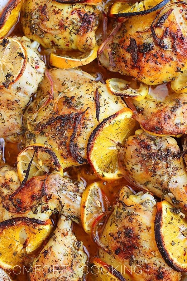 Herb Citrus Toasted Chicken | thecomfortofcooking.com