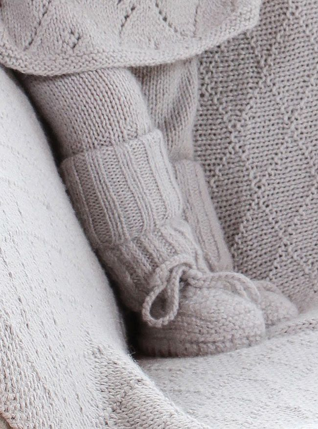 Designer clothes for babies  kids – grey knitted baby booties | MIOU - Miou Kids