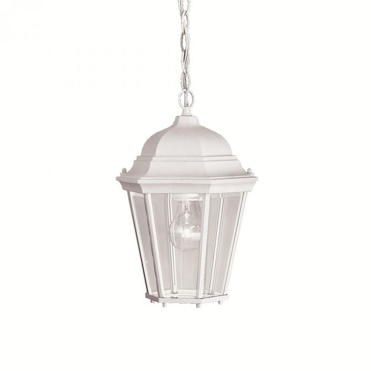 One Light White Hanging Lantern  L5K1K | Dulles Electric Supply Corp.  sc 1 st  Pinterest & 39 best Outdoor Lighting images on Pinterest | Outdoor lighting ... azcodes.com