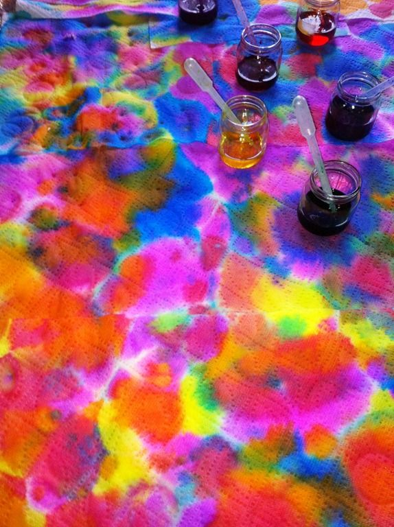 abstract designs by squirting liquid water colors all over paper towels: Art Lessons, For Kids, Abstract Art, Colors Art, Liquid Watercolor, Colors Paintings, Water Colors, Art Projects, Paper Towels