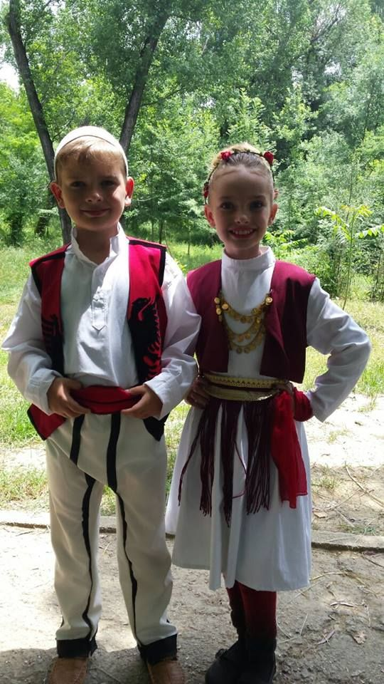 Albanian culture. Brother ans sister in traditional costume. Just beautiful #Visit #Albania #Love