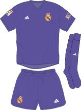 Real Madrid 3rd kit for 2001-02.