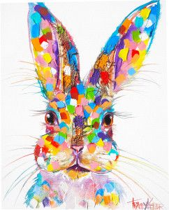 Ruby Tracey Keller Rabbit Painting