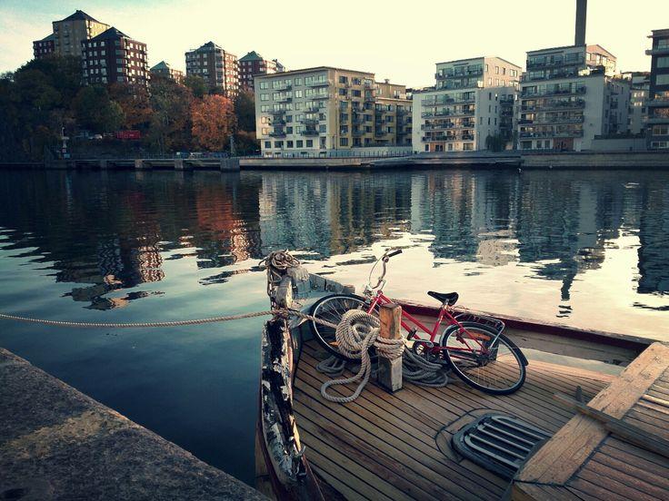 Bike on a boat.