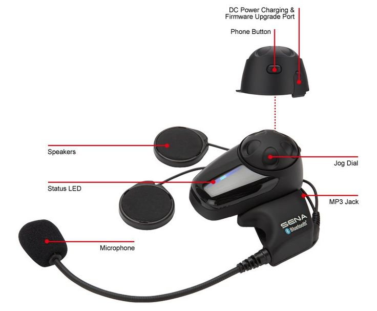The SMH10 was designed to keep you connected to your riding companions over longer ranges for conversation and music sharing—up to 900 meters (980 yards).