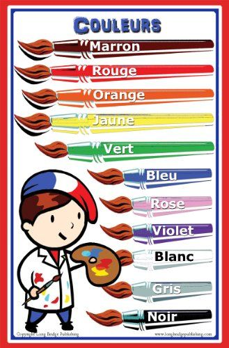 French Language School Poster - Color Chart Long Bridge P...