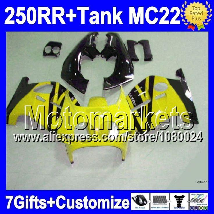 Желтый черная майка для HONDA MC22 CBR250RR 1990 1991 1992 1993 1994 # 151 CBR 250RR CBR250 RR 90 91 92 93 94 обтекатели новый желтый