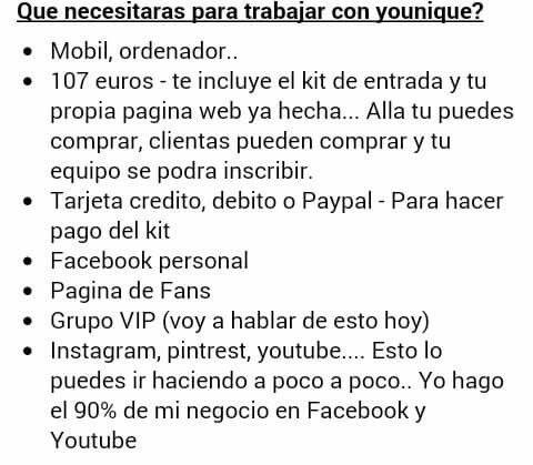 Que necesito para ser presentadora de Younique en España?
