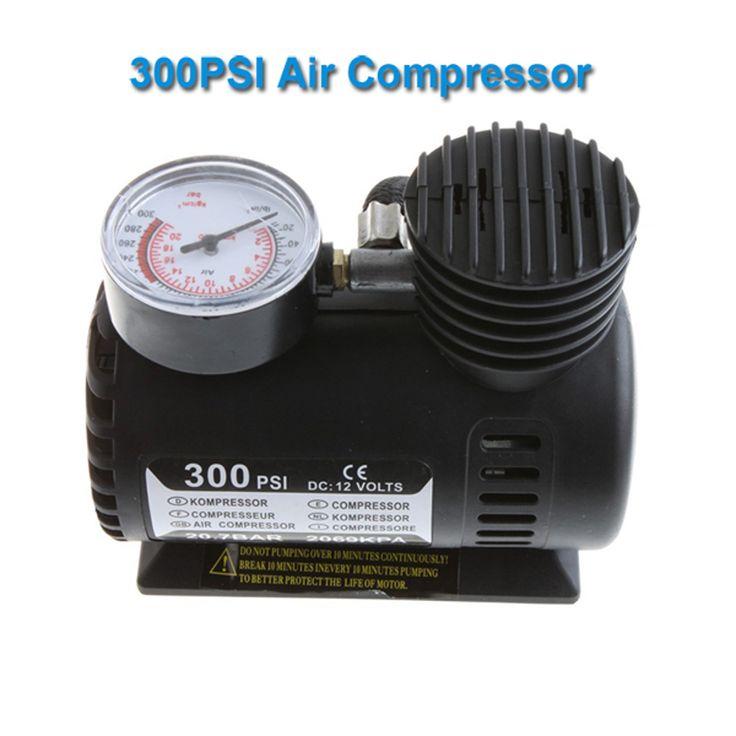 Portable Car/Auto DC 12 V Compresor De Aire Eléctrico/Neumático Del 300psi Bomba de Aire De Emergencia De Automóviles