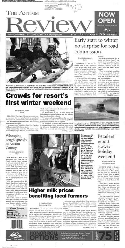 The Antrim Review (Bellaire, Michigan) newspaper archive is available at http://bel.stparchive.com/