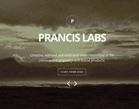 Prancis - flat clean one page site template by Heru Susanto, via Behance