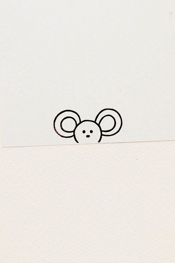 Mouse stamp, handmade stamps, animal stamps, cute stationary