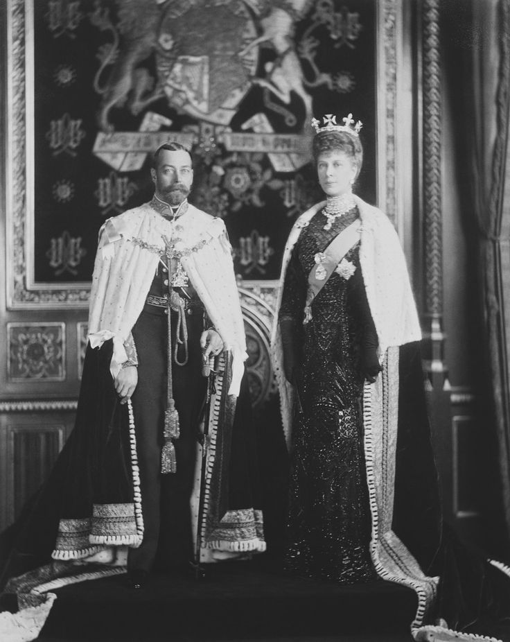 King George V and Queen Mary at the State Opening of Parliament