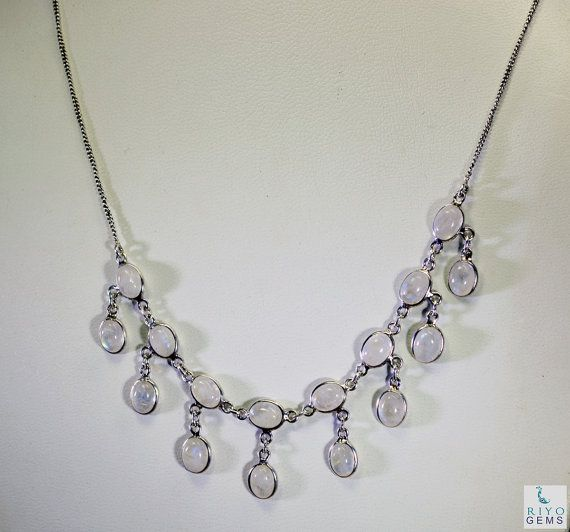 Rainbow Moonstone City Jewelry Multi Chain Silver Necklace L 16in Snrmo-64001 by RiyoGems  https://www.etsy.com/listing/212817084/rainbow-moonstone-city-jewelry-multi?ref=rss