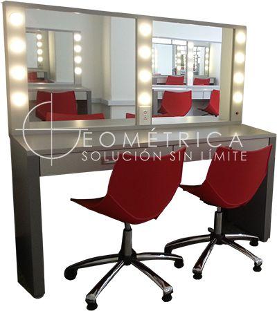 Mueble para camerino de actores #diseño #design #geometricamodular #furniture