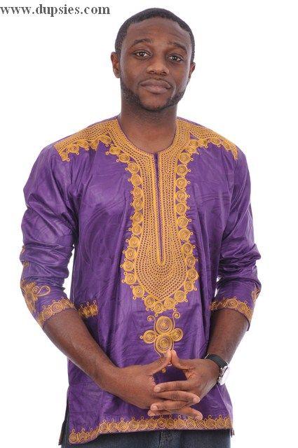 76ebccbe775f Purple and Gold African Dashiki Contemporary Shirt | Dressed To Impress |  African dashiki, Dashiki, Dashiki shirt
