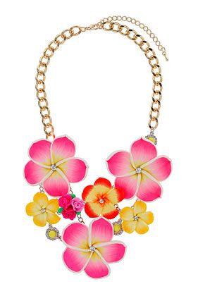 Flower and Rhinestone Collar - New In This Week  - New In