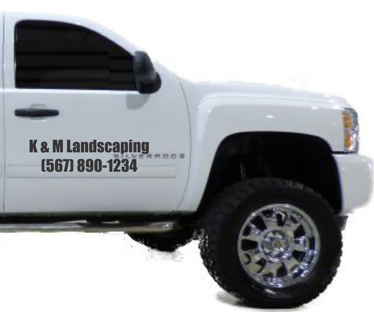 Best Lawn Care Lettering Vinyl Decals For Your Truck Images - Custom vinyl decals for business