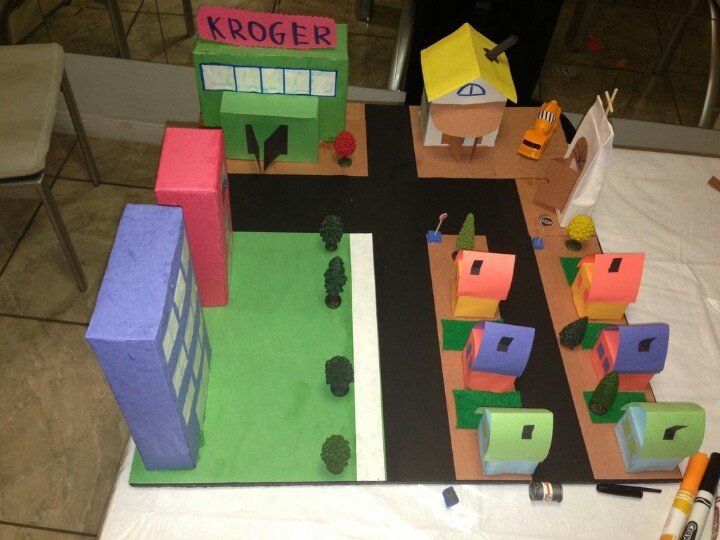 My community. Kindergarten project. | For the Home ...